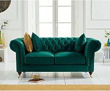 Holbrook Chesterfield 2 Seater Sofa In Green Velvet