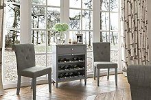 Holburn Grey Wine Rack / Dark Painted Drinks