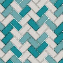 Holden - Chevron Tile Glitter 3D Geometric Kitchen