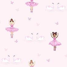 Holden Decor - Ballerina Pink Wallpaper Holden