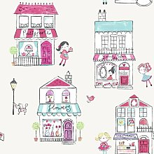 Holden Decor - Girls Cream Pink Floral Animal Shop