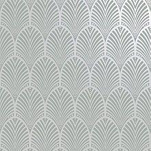 Holden Decor - Peacock Geometric Textured Gatsby