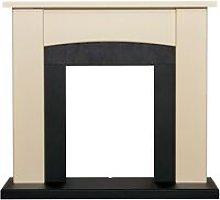 Holden Fireplace in Cream & Black, 39 Inch - Adam