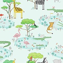 Holden Kids Animals Lake Wallpaper Crocodile