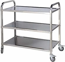 Holdfiturn 3 Tiers Stainless Steel Kitchen Trolley