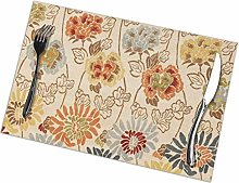 Holiday Place Mats Tablecloth Placemat Set of 6