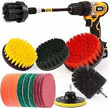 Holikme 14Piece Drill Brush Attachments Set,Black