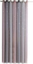 Hollow star yarn gradient curtain, gray 134*240