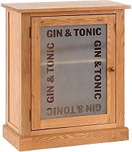 Hollyberry Home Gin and Tonic Drinks Cabinet, oak,