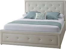 Hollywood Ottoman Double Bed Frame - White