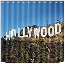 Hollywood Scenery Fabric Shower Curtain Set