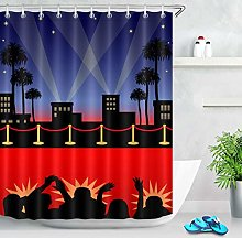 Hollywood Stage Red Carpet Shower Curtain Bathroom