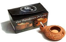 Holy Land Boutique Clay Oil Lamp with Wick From