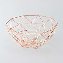 Homatz Copper Fruit Basket – Metal Wire Fruit