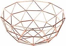 Homatz Copper Fruit Bowl, Metal Wire Fruit Basket