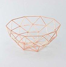 Homatz Copper Fruit Bowl – Metal Wire Fruit Bowl