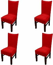 Homaxy Velvet Stretch Dining Chair Covers Solid