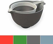 Homco CP187 Bowl Colander Seet Set, Nylon, Gray
