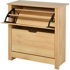 HOMCOM 12-Shoe Storage Cabinet 4 Shelves 2 Drawers