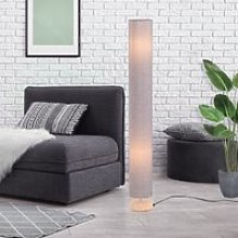 HOMCOM 120H cm Wooden Base Floor Lamp W/Linen