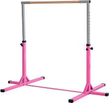 HOMCOM 145cm Kids Adjustable Gymnastics Horizontal