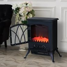 HOMCOM 1850W Flame Effect Electric Free Standing