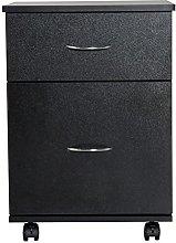 HOMCOM 2 Drawer Wooden Filing Cabinet Storage Box