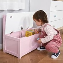 HOMCOM 2-IN-1 Wooden Toy Box Kids Seat Bench