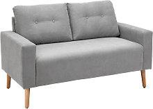 HOMCOM 2-Seater Fabric Double Seat Sofa Compact