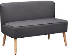 HOMCOM 2 Seater Modern Double Seat Sofa Bed