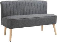 HOMCOM 2 Seater Modern Double Seat Sofa Compact