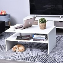 HOMCOM 2-Tier Coffee Table Side/End Table Modern