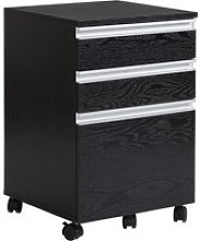 "HOMCOM 23.25"" 3-Drawer Mobile File Cabinet"