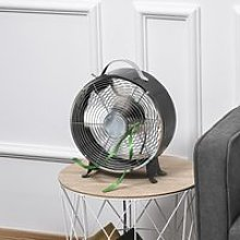 HOMCOM 26cm Electric Table Desk Fan with 2-Speed