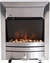 HOMCOM 2KW Stainless Steel Electric Fireplace