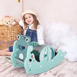 HOMCOM 3-in-1 Baby Rocking Horse Portable Slide
