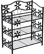 HOMCOM 3-Tier Shoe Rack Plants Stand, 59W x 29.8D