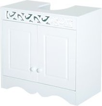 HOMCOM 30Dx60Wx56H cm Under Sink Cabinet, MDF-White