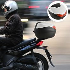 HOMCOM 32L Streamline Plastic Motorcycle Trunk w/