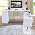 HOMCOM 360° Rotating Corner Desk Storage Shelf