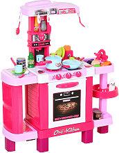 HOMCOM 38-Piece Children's Kitchen Play Set w/