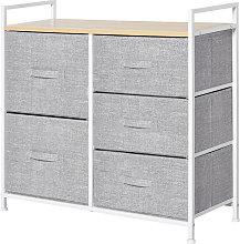 HOMCOM 5 Drawer Linen Basket Storage Unit Home