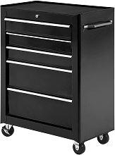 HOMCOM 5-Drawer Steel Tool Garage Storage Cabinet
