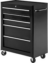 HOMCOM 5 Drawer Tool Cabinet with Wheels and