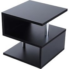 HOMCOM 50Lx50Wx50H cm Side Table-Black Particle