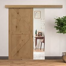 HOMCOM 6.5FT /2000mm Modern Sliding Barn Door