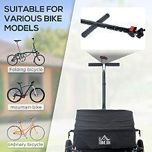HOMCOM 70L Large Cargo Trailer Bicycle Carrier