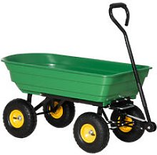 HOMCOM 75L Cart Heavy Duty 4 Wheels Trolley Dump