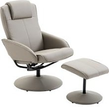 HOMCOM Adjustable PU Leather Recliner Swivel