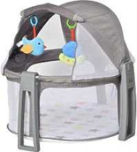 HOMCOM Baby Cot 2 In 1 Activity Gym Playmat Crib